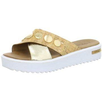 Tamaris Plateau Pantolette gold