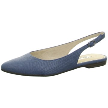 Tamaris Sling Ballerina blau
