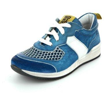Momino Sportlicher Schnürschuh blau