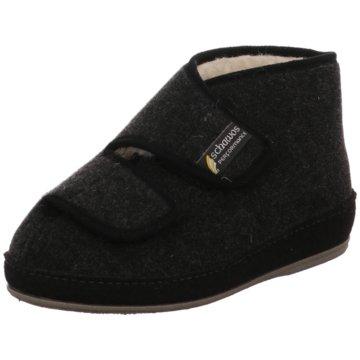 Franken Schuhe Hausschuh schwarz