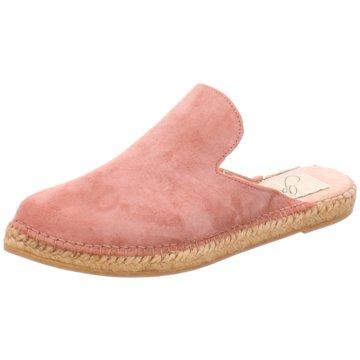 Gaimo Espadrilles Mules Pantoletten rosa