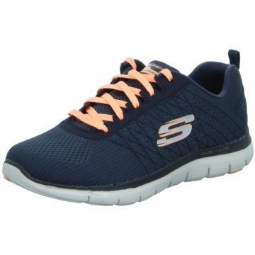 Skechers - Schnürhalbschuh FLEX-APPEAL 2.0-BREAK FREE -  blau
