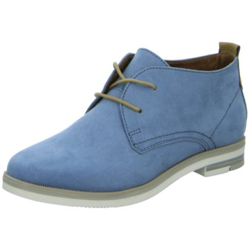Marco Tozzi Schnürstiefelette blau