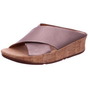 Fit Flop Plateau Pantolette silber