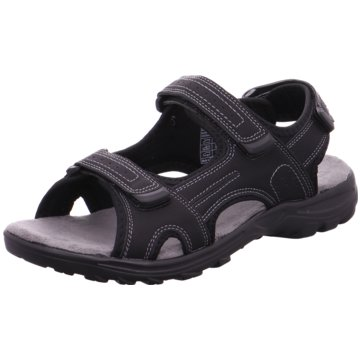 Montega Komfort Sandale schwarz