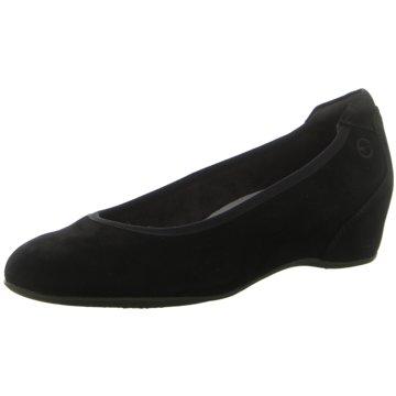 Gabor Damen Comfort Keilpumps Pumps Keilballerinas aus Veloursleder Schuhe blau