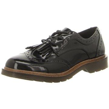 Coolway Eleganter Schnürschuh schwarz