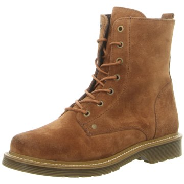 Online Shoes Schnürstiefelette braun