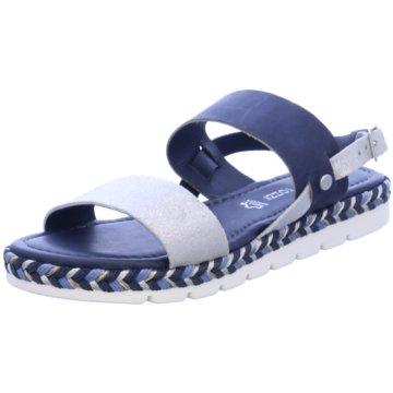 Marco Tozzi Sandale blau