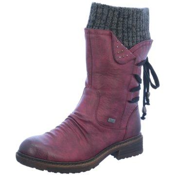 Rieker Klassischer Stiefel rot