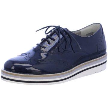 Paul Green Eleganter Schnürschuh blau
