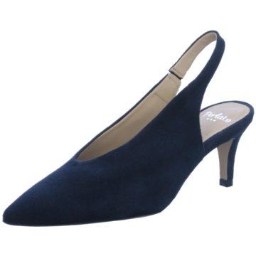 Perlato Slingpumps blau