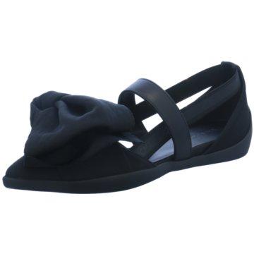 Linea Marche Modische Ballerinas schwarz