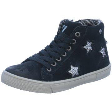 Zebra Sneaker High blau