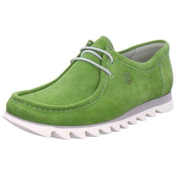 Sioux Mokassin Schnürschuh grün