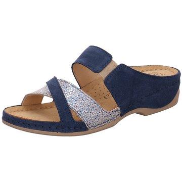 Dr. Feet Komfort Pantolette blau