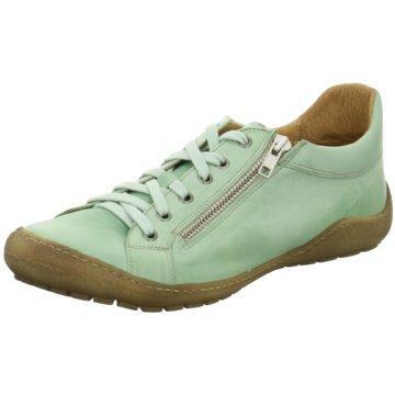 Dessy Komfort Schnürschuh grün