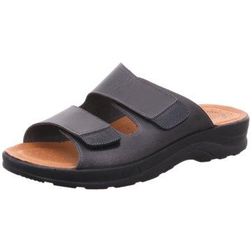 Fly Flot Komfort Sandale schwarz