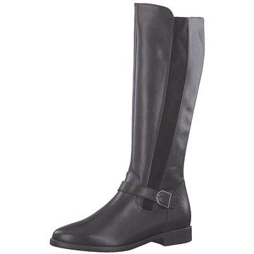 schwarzer Tamaris Stiefel aus Glattleder Schwarz   Vögele
