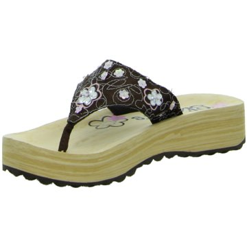 Skechers Offene Schuhe braun