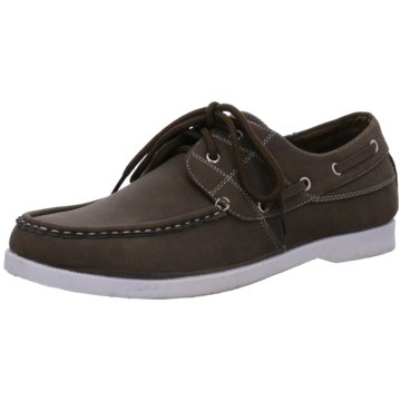 Montega Shoes & Boots Mokassin Schnürschuh braun