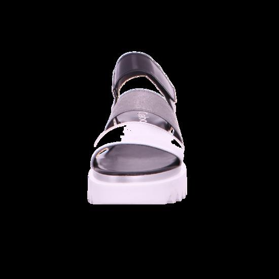 Sandale schw 61 Sandaletten Von 23 610 Plateau Gabor Silber stone NO8n0wPkX