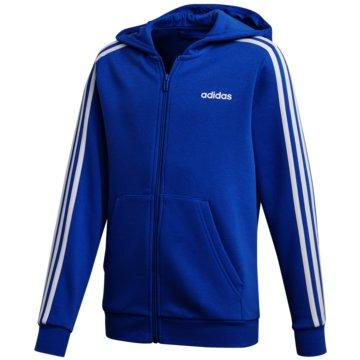 adidas TrainingsjackenYB E 3S FZ HD - FL9603 blau
