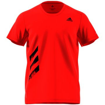 adidas T-ShirtsRun It 3-Stripes PB Tee rot