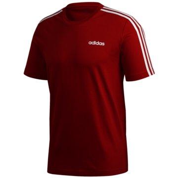 adidas T-ShirtsE 3S TEE - FS9752 rot