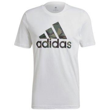 adidas T-ShirtsESSENTIALS CAMOUFLAGE PRINT T-SHIRT - GK9635 weiß