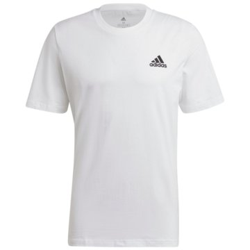 adidas T-ShirtsESSENTIALS EMBROIDERED SMALL LOGO T-SHIRT - GK9640 weiß