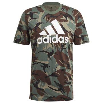 adidas T-ShirtsESSENTIALS CAMOUFLAGE T-SHIRT - GK9808 grün