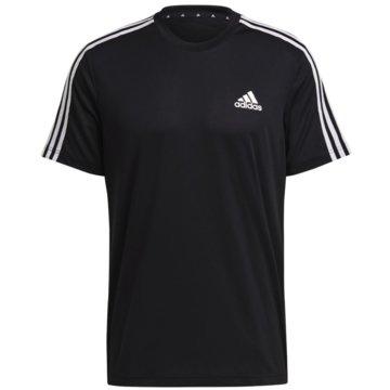 adidas T-ShirtsAEROREADY DESIGNED TO MOVE SPORT 3-STREIFEN T-SHIRT - GM2105 schwarz