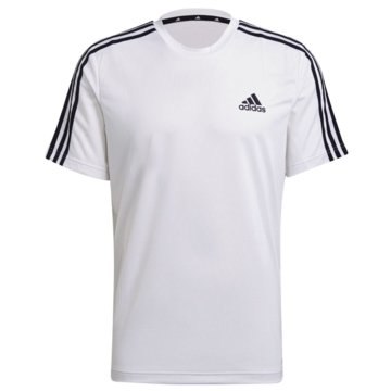 adidas T-ShirtsAEROREADY DESIGNED TO MOVE SPORT 3-STREIFEN T-SHIRT - GM2156 weiß