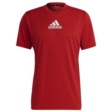 adidas T-ShirtsPRIMEBLUE DESIGNED TO MOVE SPORT 3-STREIFEN T-SHIRT - GM4318 rot
