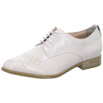 Tamaris Eleganter Schnürschuh weiß