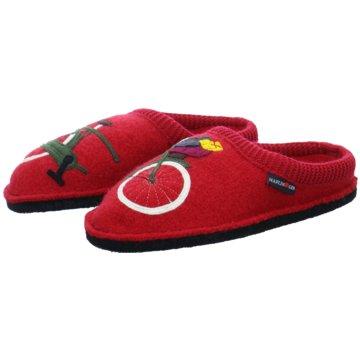 Haflinger Hausschuh rot