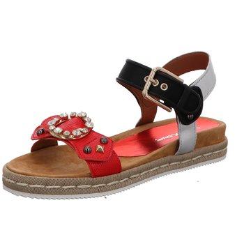 Alpe Woman Shoes Plateau Sandalette rot