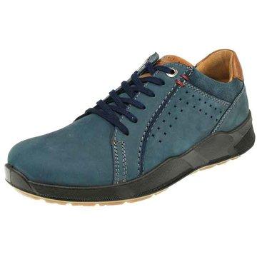 Jomos Komfort Schnürschuh blau