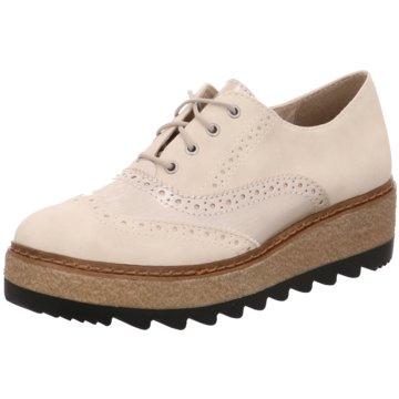 Tamaris Plateau SchnürschuheSneaker beige