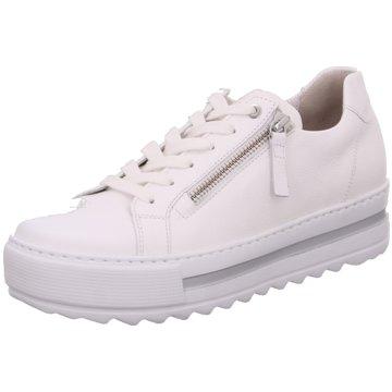 Gabor Plateau SchnürschuheSneaker weiß