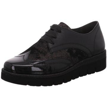 Gabor comfort Eleganter SchnürschuhSneaker schwarz
