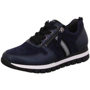 Gabor comfort Bequeme SchnürschuheSneaker blau