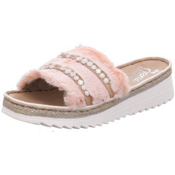 Rieker Plateau Pantolette rosa