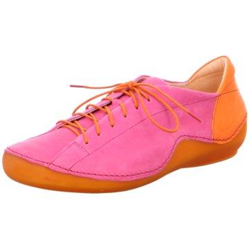 Think Komfort Schnürschuh pink