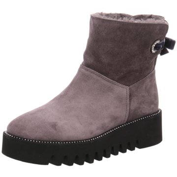 Alpe Woman Shoes Plateau Stiefelette grau