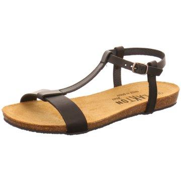 Plakton Komfort Sandale schwarz