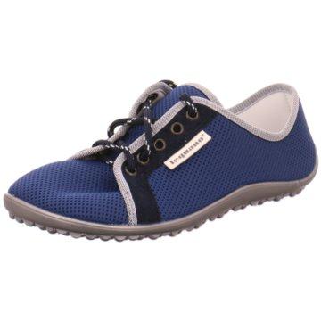 Leguano Komfort Schnürschuh blau