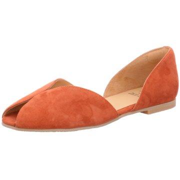 KMB Peeptoe Ballerina orange