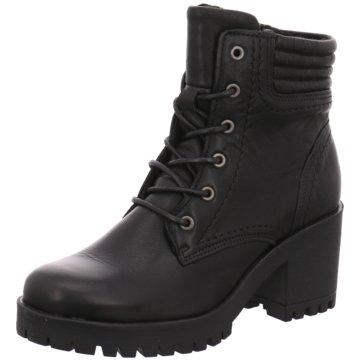 Online Shoes Schnürstiefelette schwarz